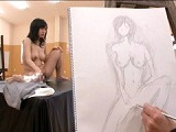 夫の目の前で!!赤面人妻 全裸デッサンモデル 2 7